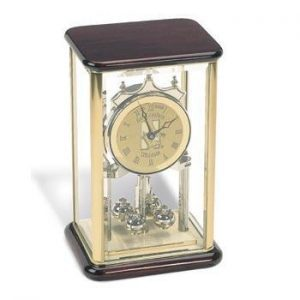 Northwestern Wildcats Mascot Design Gold Medallion Anniversary Clock