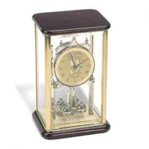 Northwestern Wildcats Mascot Design Gold Medallion Anniversary Clock