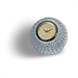 Northwestern Wildcats Mascot Design Gold Medallion Golf Ball Clock