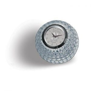 Northwestern Wildcats Mascot Design Silver Medallion Golf Ball Clock