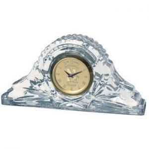 Northwestern Wildcats Mascot Design Gold Medallion Crystal Napoleon Clock