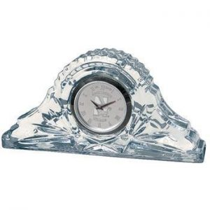 Northwestern Wildcats Mascot Design Silver Medallion Crystal Napoleon Clock