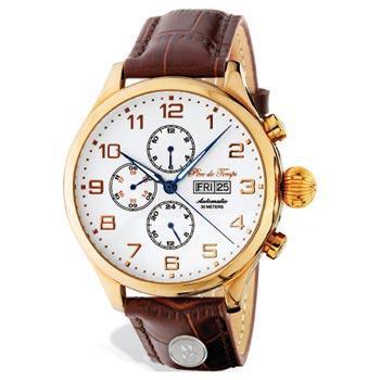 Northwestern Wildcats Mascot Design Silver Medallion Unisex Wristwatch