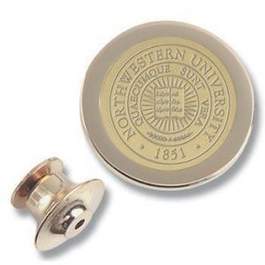 Northwestern Wildcats Seal Design Gold Medallion Lapel Pin