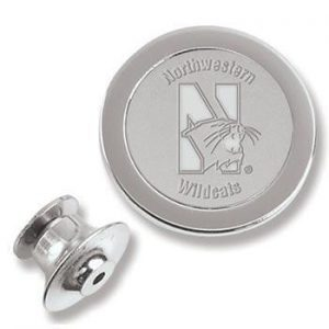 Northwestern Wildcats Mascot Design Silver Lapel Pin