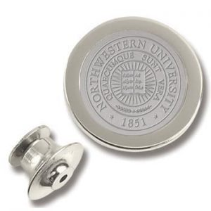 Northwestern Wildcats Seal Design Silver Lapel Pin