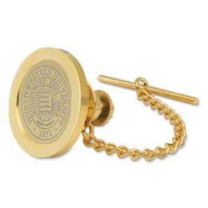 Northwestern Wildcats Seal Design Gold Medallion Tie Tac