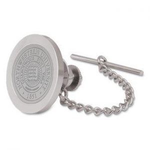 Northwestern Wildcats Seal Design Silver Medallion Tie Tac