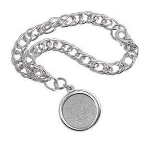 Northwestern Wildcats Seal Design Silver Medallion Charm Bracelet