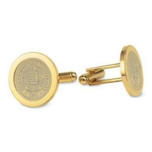 Northwestern Wildcats Seal Design Gold Medallion Cufflinks
