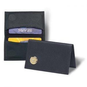Northwestern Wildcats Mascot Design Gold Medallion Credit Card Wallet