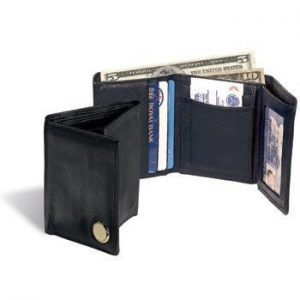 Northwestern Wildcats Seal Design Gold Medallion Bi-Fold Wallet