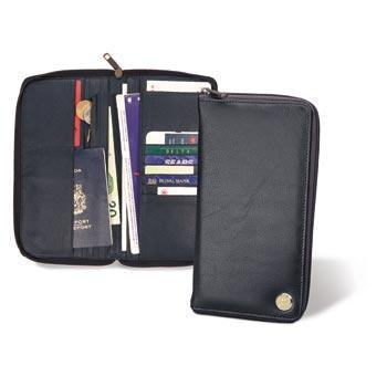 Northwestern Wildcats Mascot Design Gold Medallion Passport Wallet