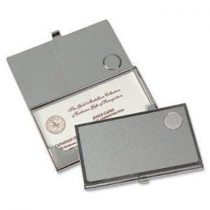 Northwestern Wildcats Seal Design Silver Medallion Business Card Case