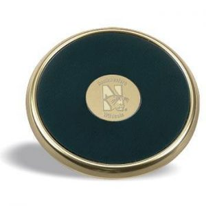 Northwestern Wildcats Mascot Design Gold Medallion Satin Brass Tone Coaster