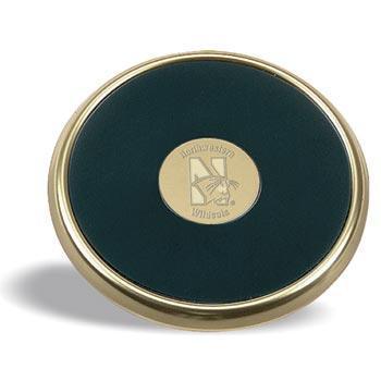 Northwestern Wildcats Mascot Design Gold Medallion Satin Brass Tone Coaster