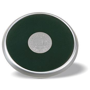 Northwestern Wildcats Seal Design Silver Medallion Satin Silver Tone Coaster