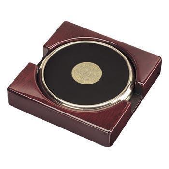 Northwestern Wildcats Seal Design Gold Medallion Satin Brass Tone Coaster Set of Two