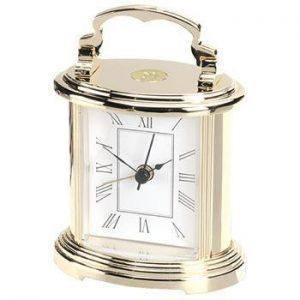Northwestern Wildcats Mascot Design Gold Medallion Prestige Alarm Clock