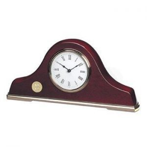 Northwestern Wildcats Mascot Design Gold Medallion Napoleon III Mantle Clock