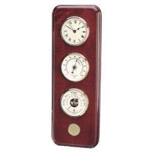 Northwestern Wildcats Seal Design Gold Medallion Weather Station/Clock