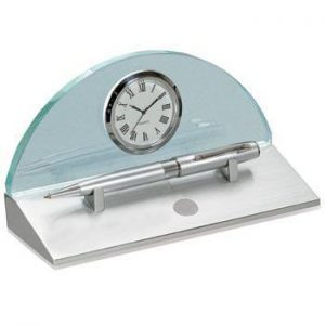 Northwestern Wildcats Seal Design Silver Medallion Eclipse Desk Clock