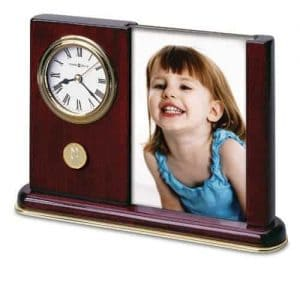 Northwestern Wildcats Mascot Design Gold Medallion Photo/Desk Clock