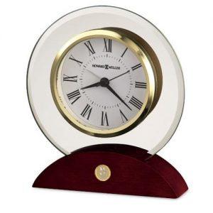 Northwestern Wildcats Mascot Design Gold Medallion Round Beveled Glass Tabletop Clock