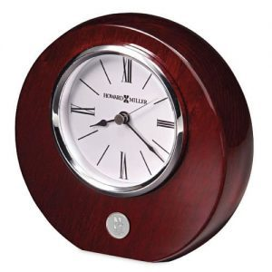 Northwestern Wildcats Mascot Design Silver Medallion Rosewood Finish Desk Clock