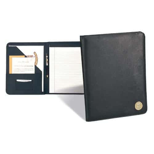 Northwestern Wildcats Mascot Design Gold Medallion Simulated Leather Portfolio