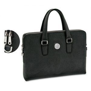 Northwestern Wildcats Mascot Design Silver Medallion Genuine top grain leather Ladies' Briefcase