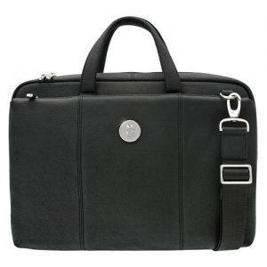 Northwestern University Wildcats Mascot Design Silver Medallion Genuine top grain leather Men's Briefcase