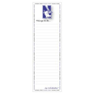 Northwestern Wildcats Magnetic Back To Do Pad
