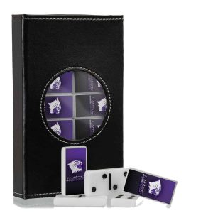 Northwestern Wildcats Domino Set in a Leatherite Case