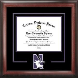 Northwestern University Spirit Diploma Frame