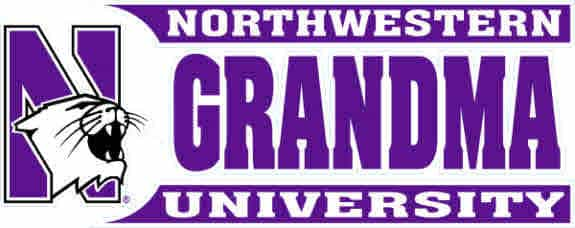 "Northwestern Wildcats Outside Application Decal with Grandma Northwestern University Design 9"" x 3.6"""