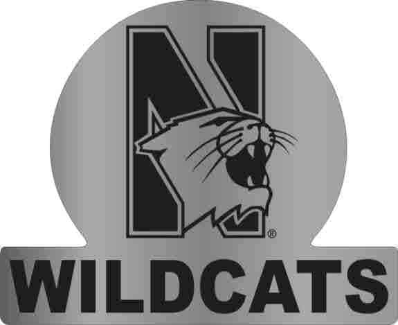 Northwestern Wildcats Auto Badge with N-Cat Wildcats Design