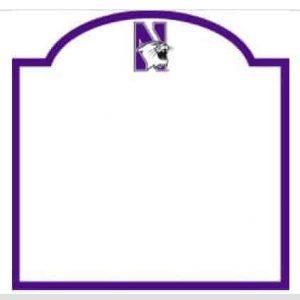 Northwestern Wildcats Dry Erase Board