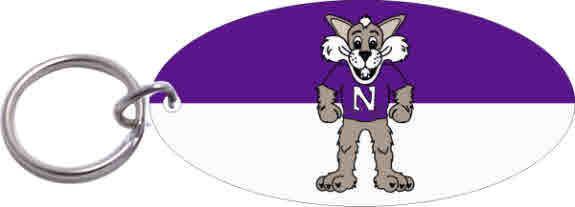 Northwestern Wildcats Willie The Wildvat Glossy Print Key Chain