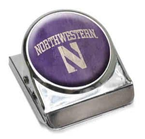 "Northwestern Wildcats Purple Dome Fridge Magnet Clip ""Northwestern with Stylized N"" Design"