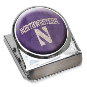 "Northwestern Wildcats Purple Dome Fridge Magnet Clip ""Northwestern with Stylized N"" Design"