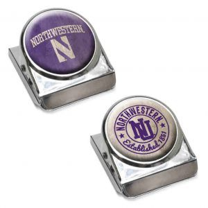 Northwestern Wildcats Dome Magnet Clips Set of Two