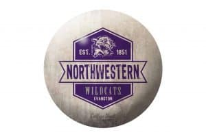 Northwestern Wildcats White Paperweight Dome