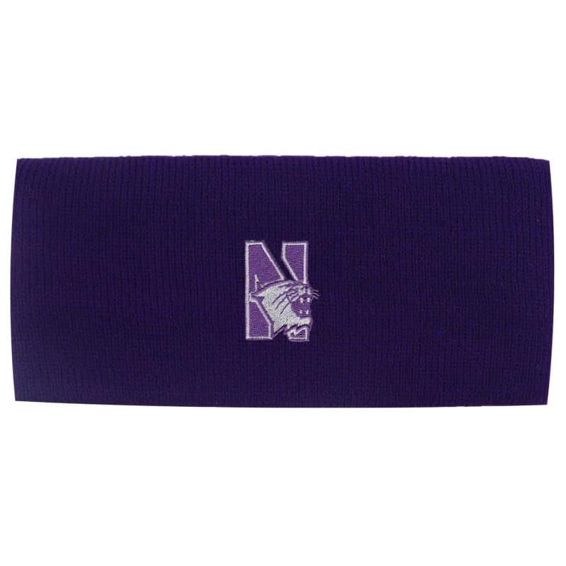 Northwestern Wildcats Purple Knit Headband with N-Cat Design