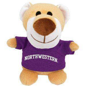 Northwestern Wildcats Bean Bag Buddy Wildcat Wearing a Purple Northwestern Tee Shirt