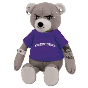 "Northwestern Wildcats The Unbearable Studz Wearing Purple ""Northwestern"" Tee Shirt"