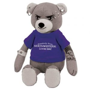 "Northwestern Wildcats The Unbearable Studz Wearing Purple ""Somebody From Northwestern Loves Me"" Tee Shirt"