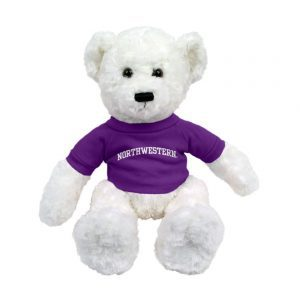 "Northwestern Wildcats White Dexter Wearing Purple ""Northwestern"" Tee Shirt"