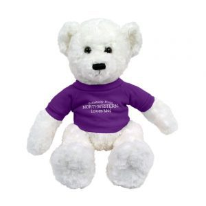"Northwestern Wildcats White Dexter Wearing Purple ""Somebody From Northwestern Loves Me"" Tee Shirt"