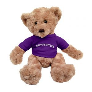 "Northwestern Wildcats Tan Dexter Wearing Purple ""Northwestern"" Tee Shirt"